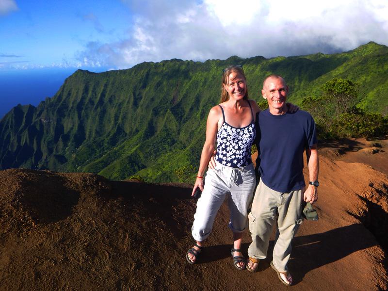 John and Laura - Kauai 2014.