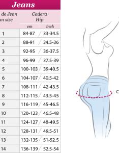 Push up jean also size charts  jb sexy body fajas colombianas san bernardino ca rh jbsexybody