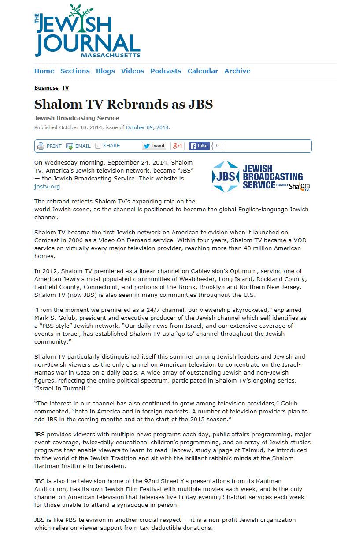 Massachusetts Jewish Journal 10-10-14
