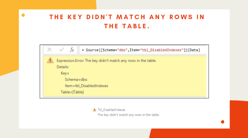 Power BI – The key didn't match any rows in the table