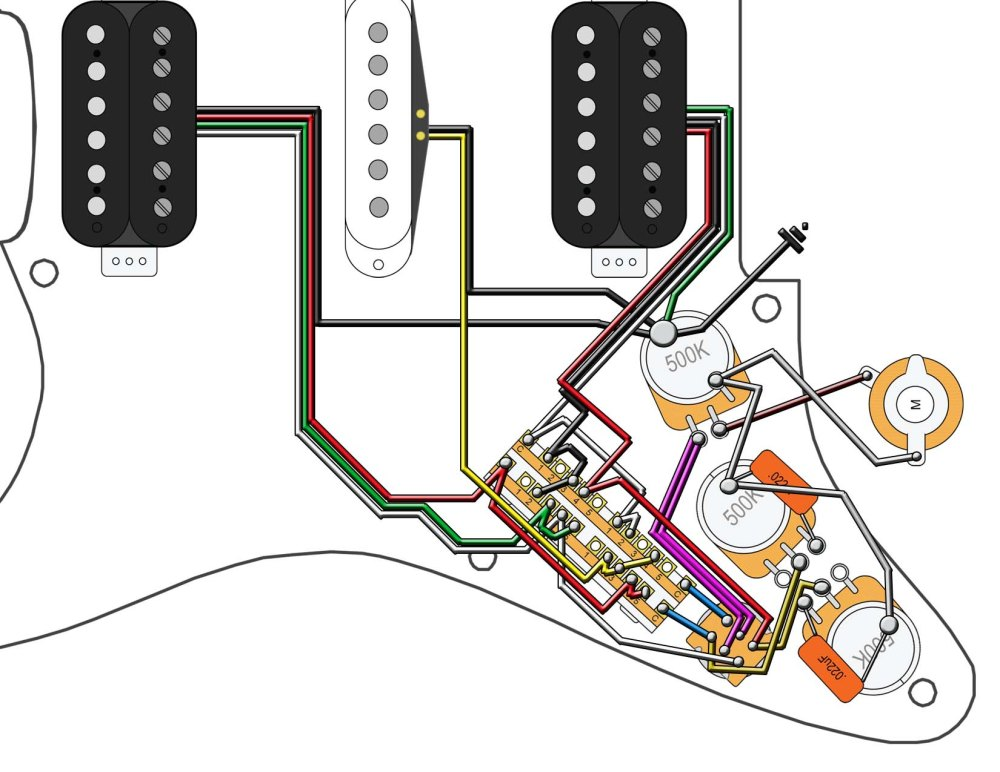 medium resolution of fender hsh wiring diagram wiring diagram sysfender hsh wiring diagram