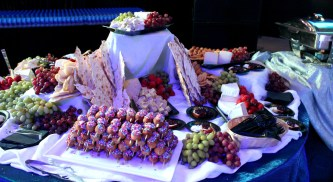 Fruit, Flatbread and Donut Hole Display