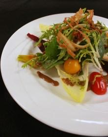 Pear and Crispy Duck Salad