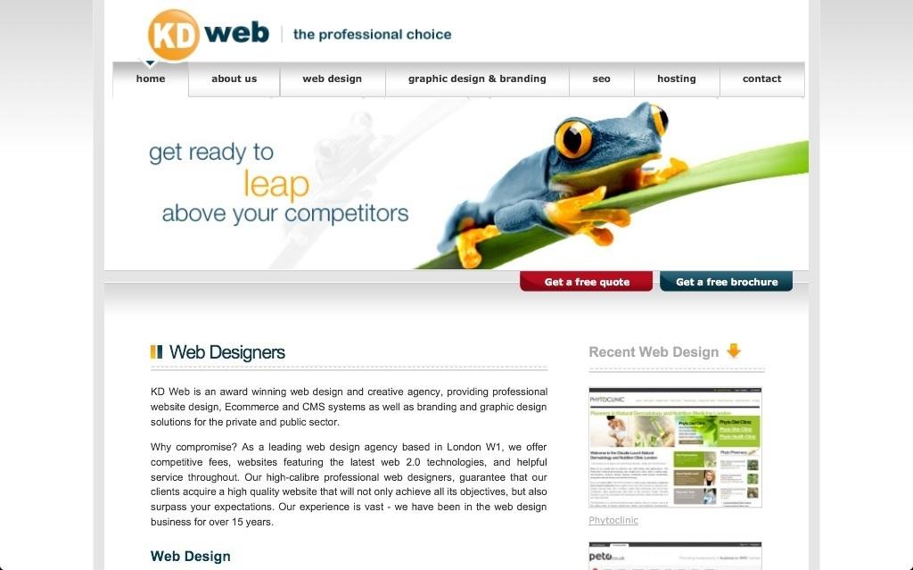 KD Web, Scottish Design Agents.