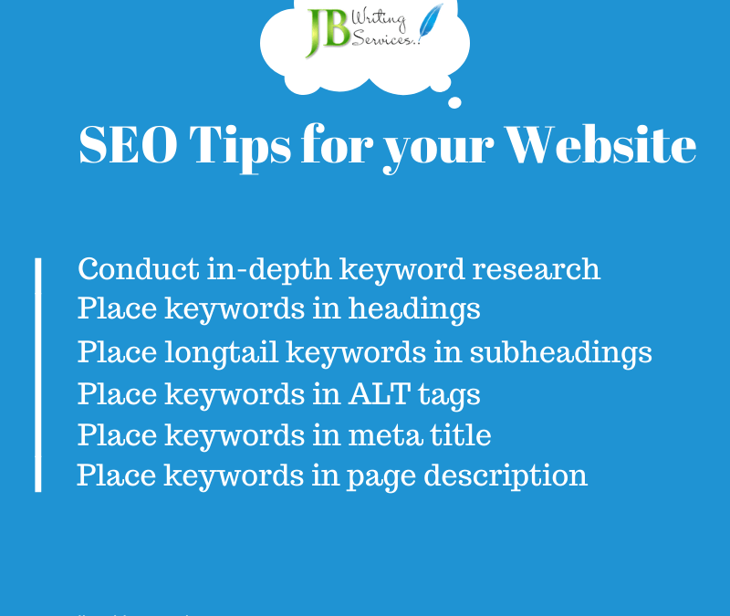 Simple SEO Tips for your Website