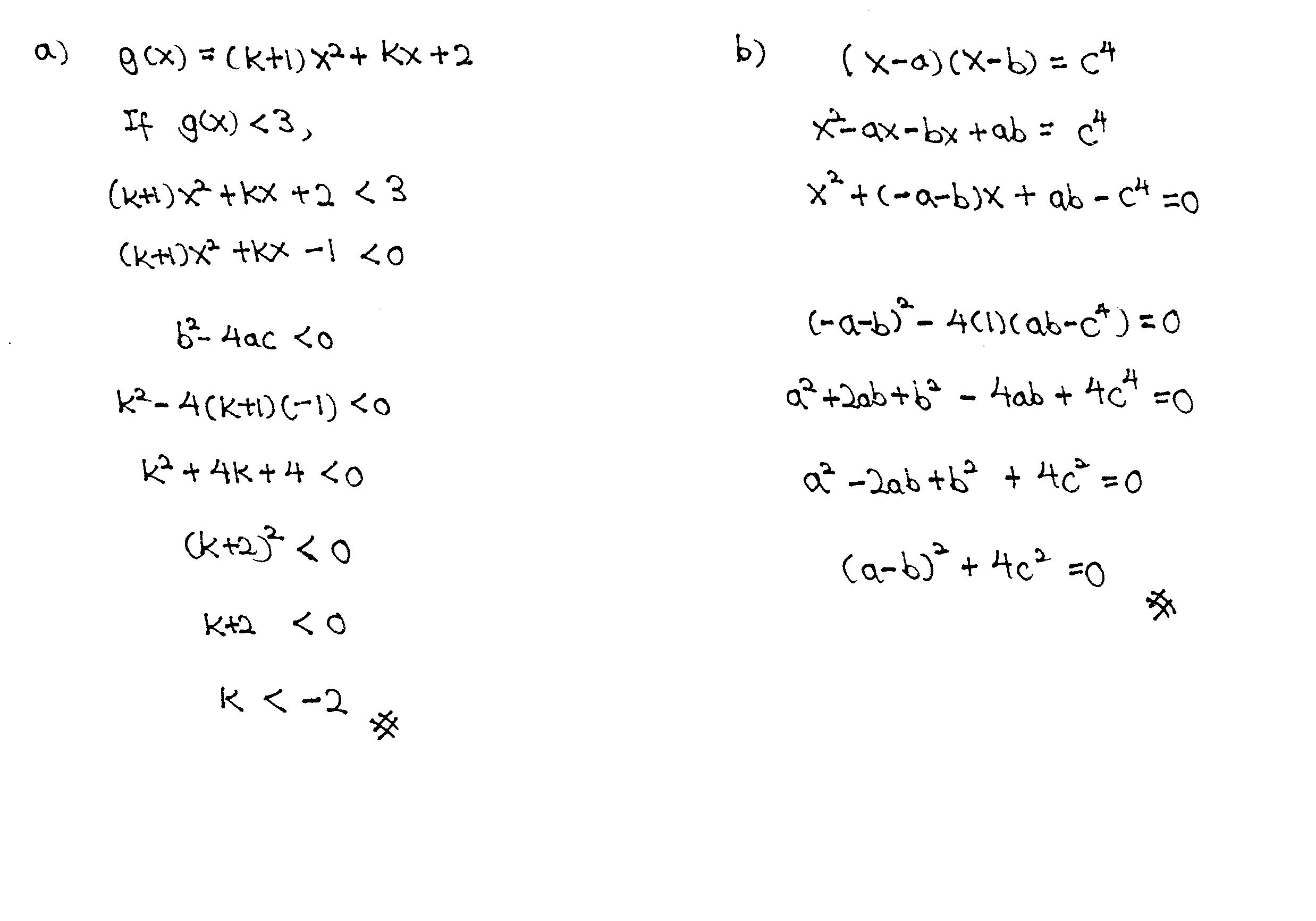 Quadratic Equations Jc Math Tuition
