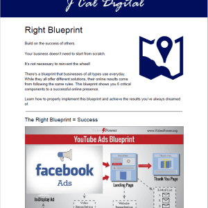 An image of The Right Blueprint PDF that helps business owner's see a bird's eye view of how revenue growth works