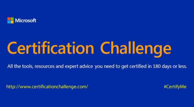 My Microsoft Certification Challenge