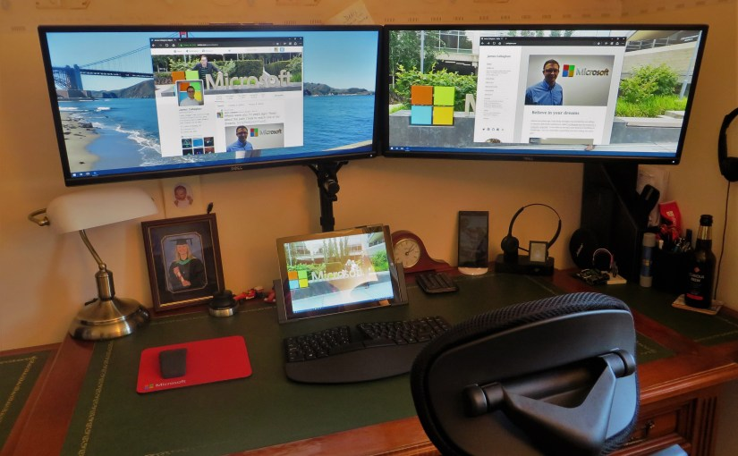 How to daisy chain multiple monitors on a Surface Pro 3 running