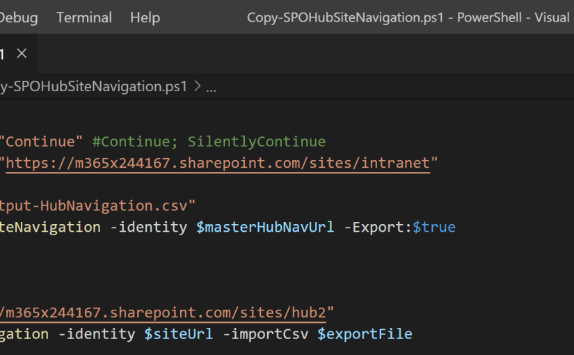 Replicate SharePoint Hub site navigation to other Hub sites