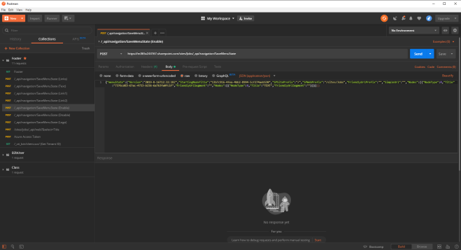 Screenshot showing a API test in Postman