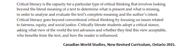 Critical Literacy Curriculum