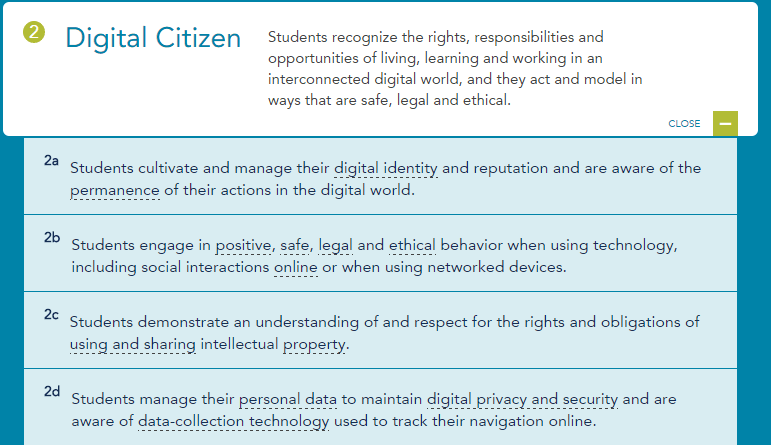 Digital Citizenship ISTE