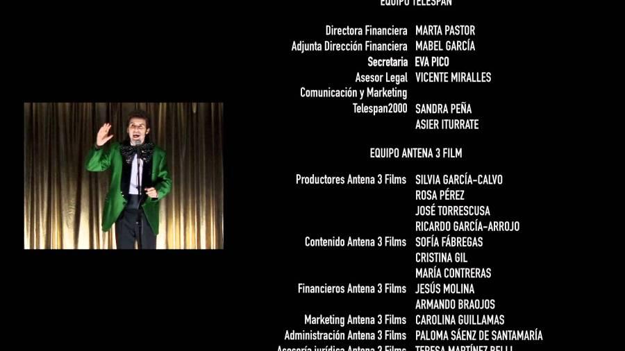 créditos de película