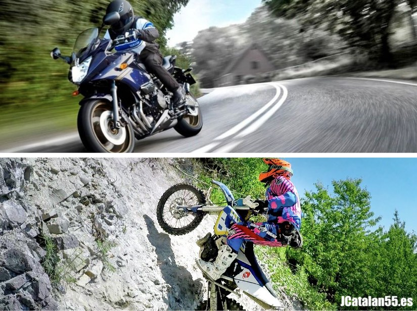 Motos de carretera vs. enduro