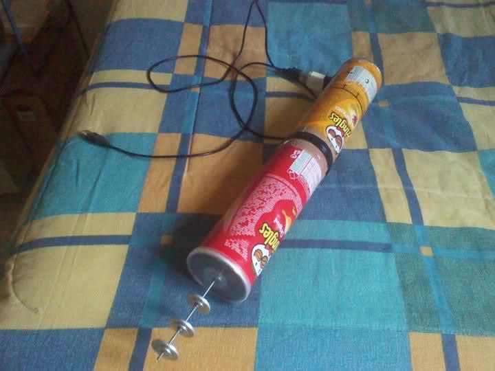 antena WiFi con una o dos latas de Pringles