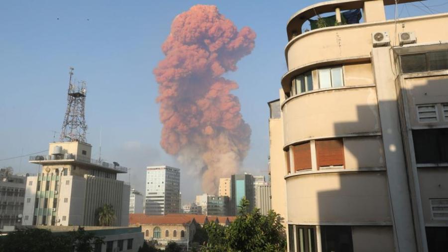 Explosión en Beirut (Líbano)