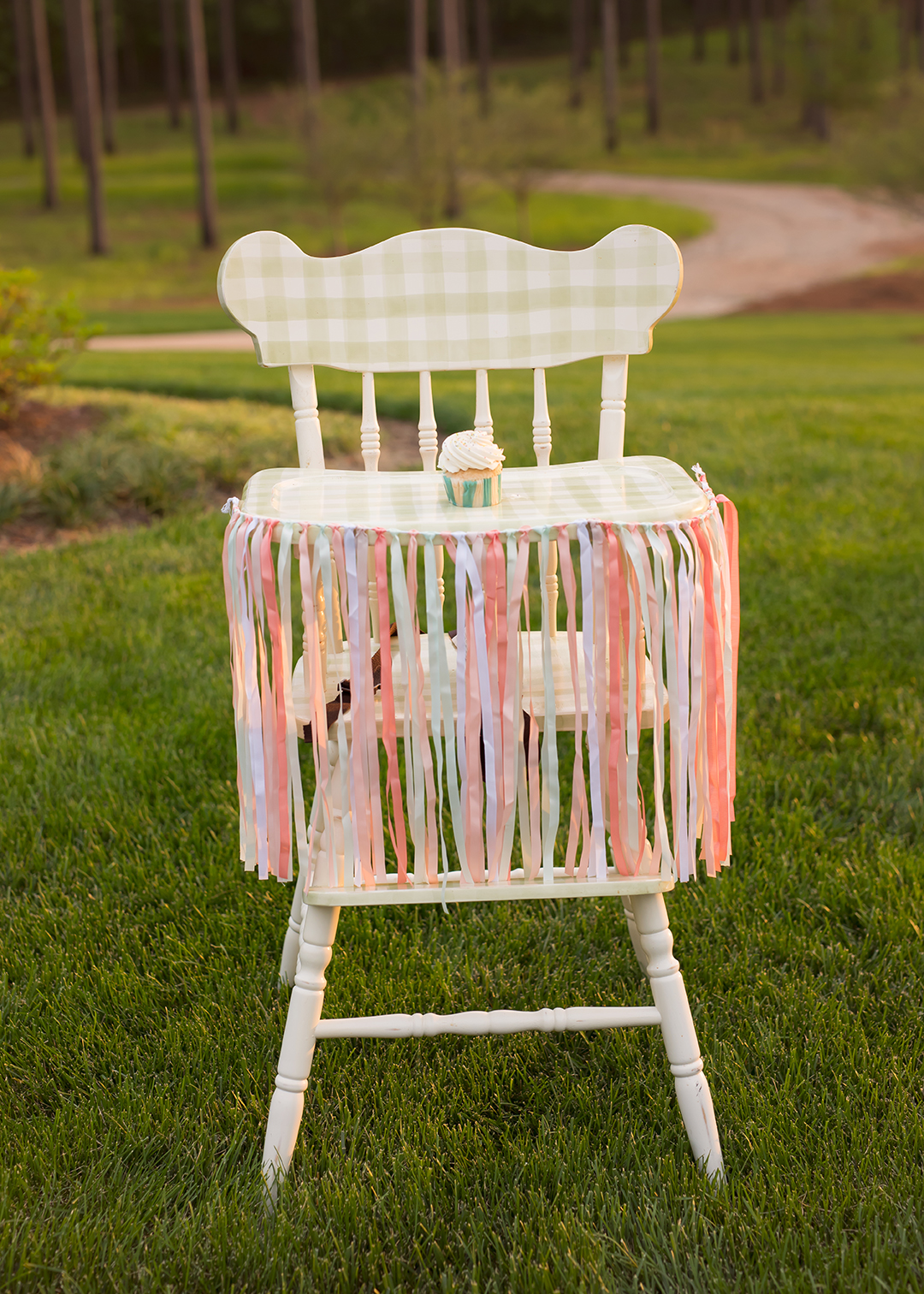 Girl High Chairs 1 Year Birthday Garden Party At The Farm Celebrating A