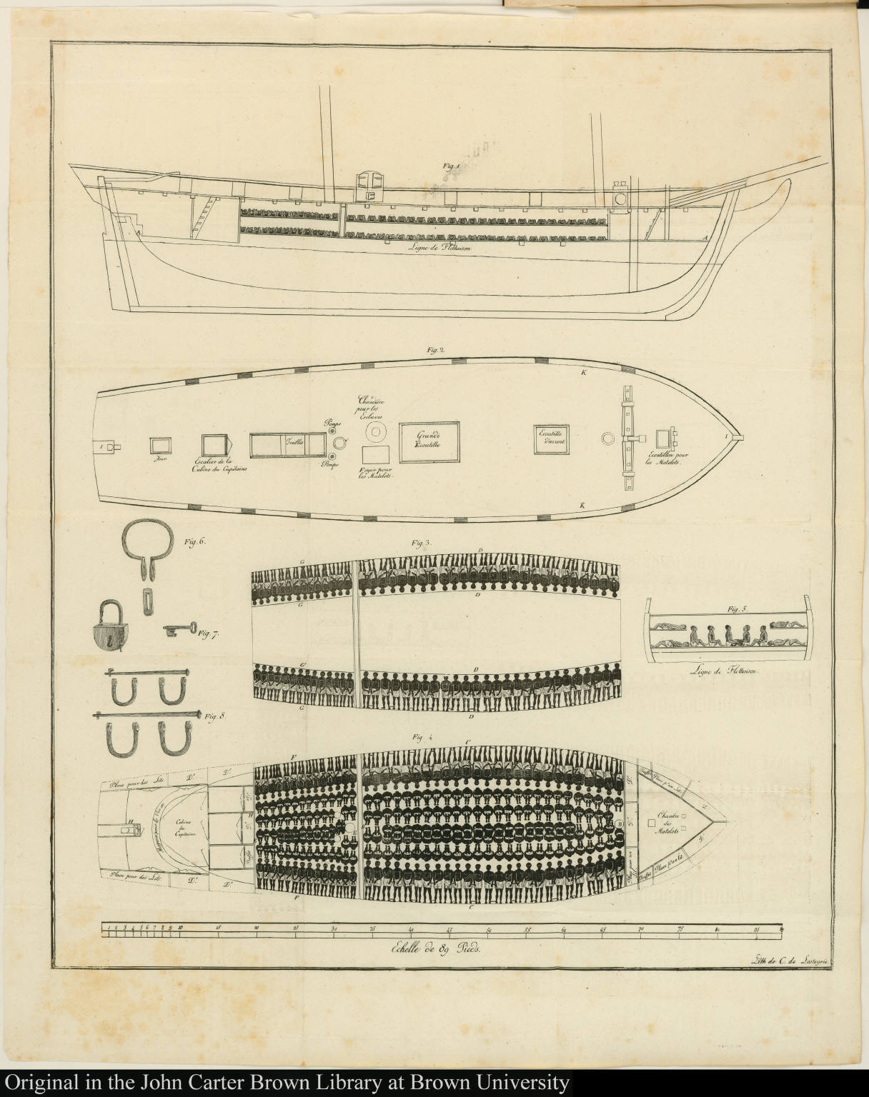 hight resolution of  diagram of slave ship