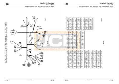 JCB Loader 407B ZX, 408B ZX, 409B Z, 410B ZX, 411B ZX