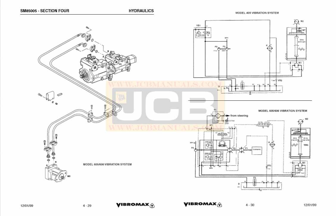 JCB Vibromax 405, 605, 606 SINGLE DRUM ROLLER Service