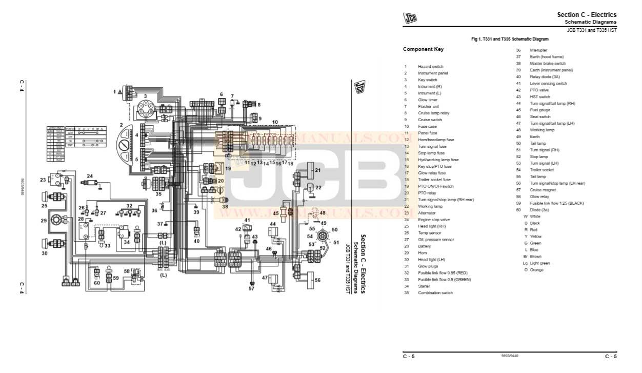 JCB Tractor 331HST 335HST Service Repair Manual