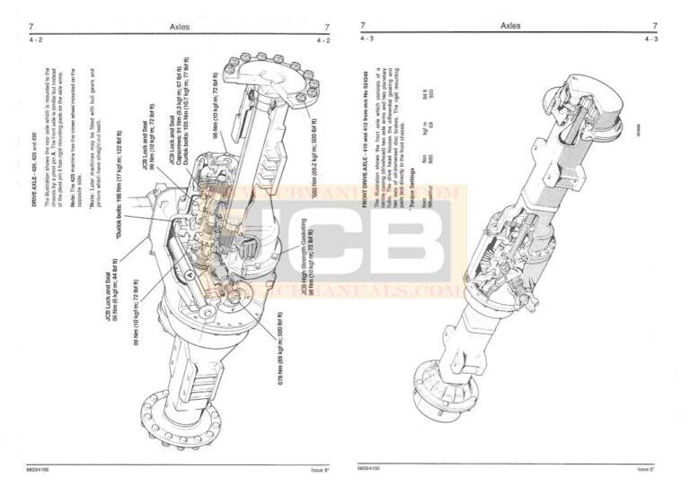 JCB Wheeled Loader 410, 412, 415, 420, 425, 430 Service