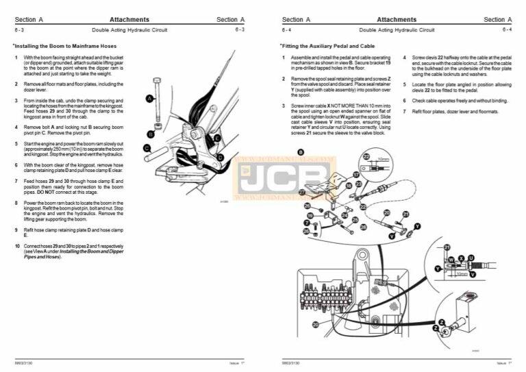 JCB 8013 8015 8017 8018 Mini Excavator Service Repair