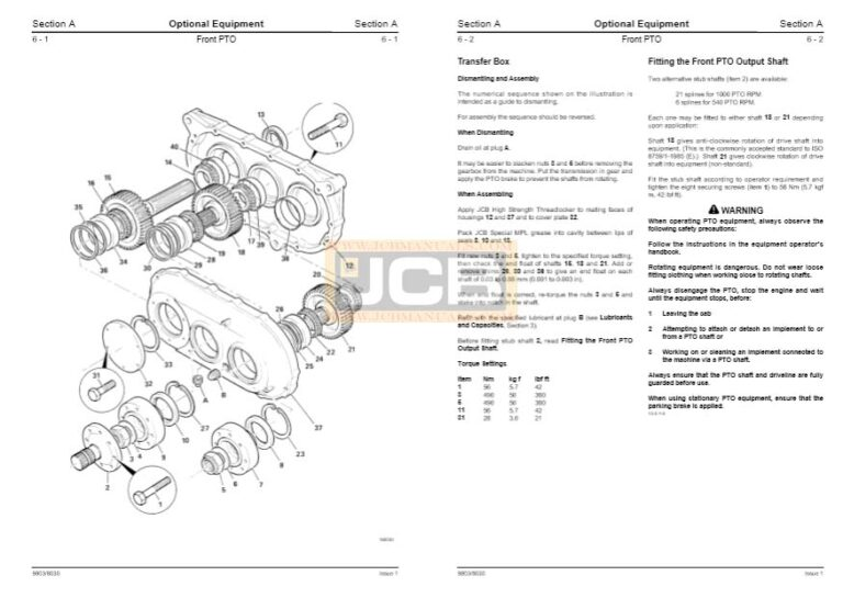 JCB Fastrac 3170 Plus TO 3230 Plus Service Repair Manual