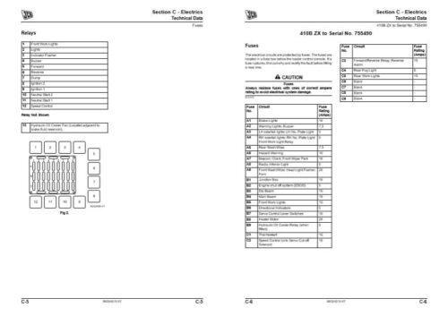 JCB Loader 407B ZX, 408B ZX, 409B ZX, 410B ZX, 411BZX