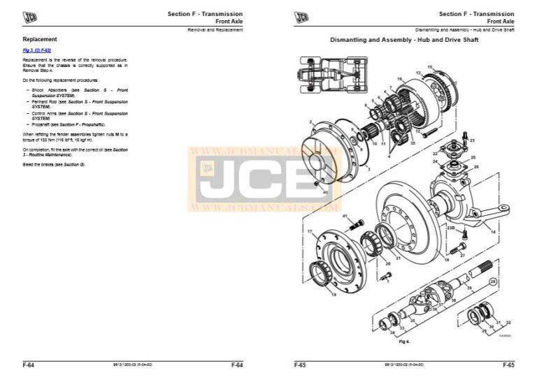 JCB Fastrac 3200 , 3230 Tier 4 Service Repair Manual