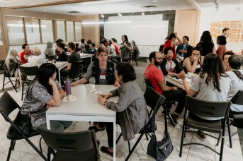 More than a dozen intergenerational community members joined ensoku participants for lunch at Chinatown House on Sunday, as an opportunity to meet each other and learn each other's stories.