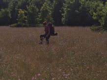 """Alexis Apel in Leland, Mich. """"This is me hiking on North Manitou Island, it's special to me because it's the first time I rustic camped,"""" Apel said. """"I taught myself I could survive in a minimalist way."""""""