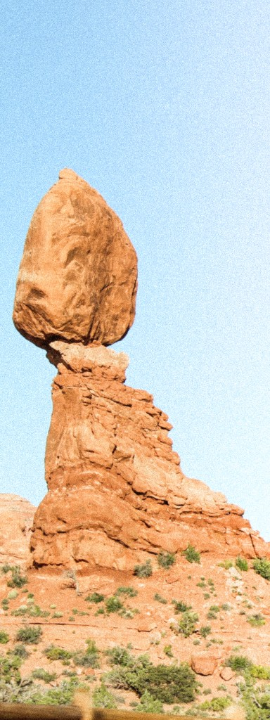 Natural rock sculpture. Moab.