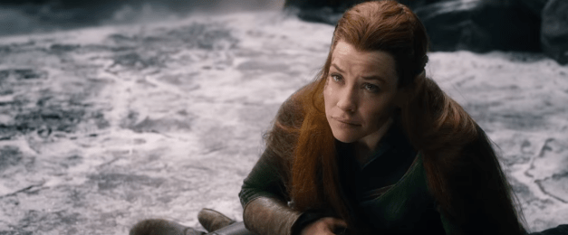 Tauriel weeps over an unseen body.