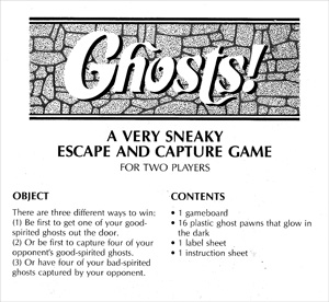 Ghosts! board game