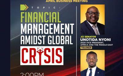 APRIL BUSINESS MEETING