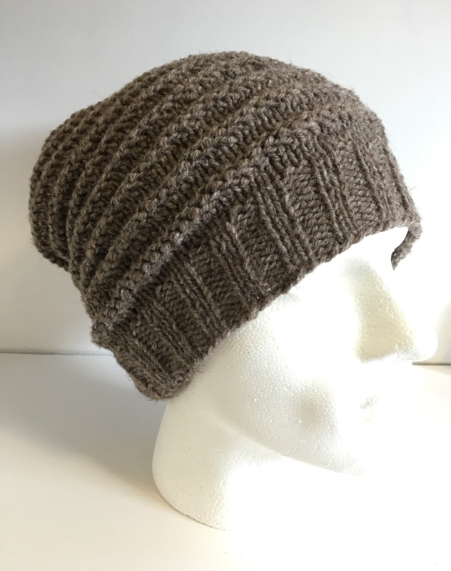 84bb016bc0779 Mens Textured Light Brown Slouchy Beanie Hand Knitted Winter Hat – JCLH023