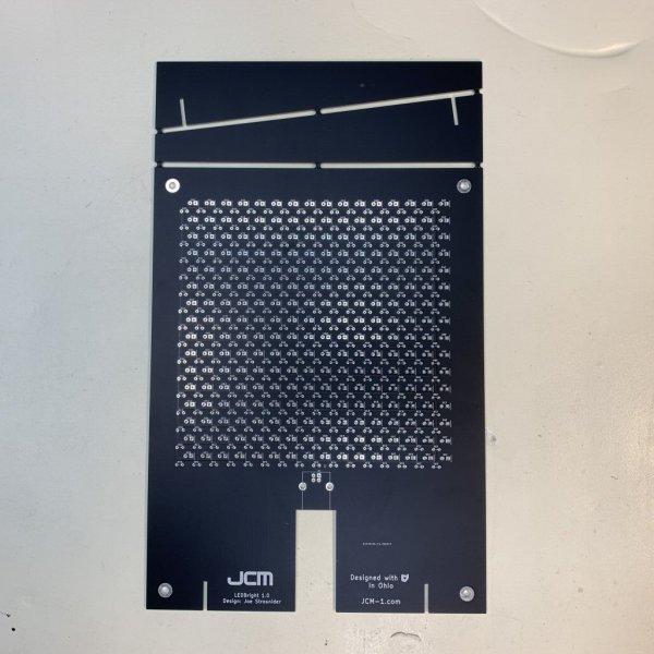 Front image of the LEDBright 1.0 bare board, unassembled.