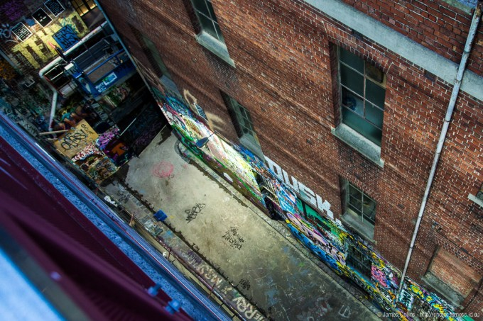 Melbourne Laneway from 8 stories above
