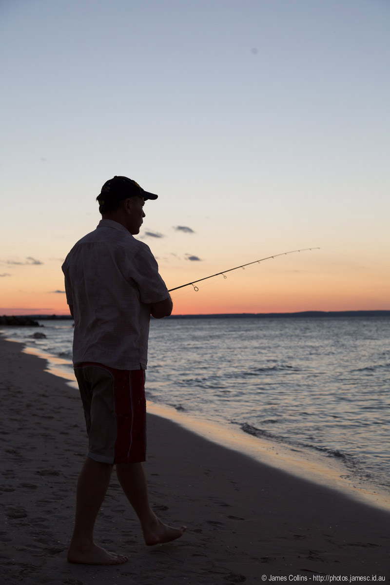 Dad Fishing in Geographe Bay, Busselton