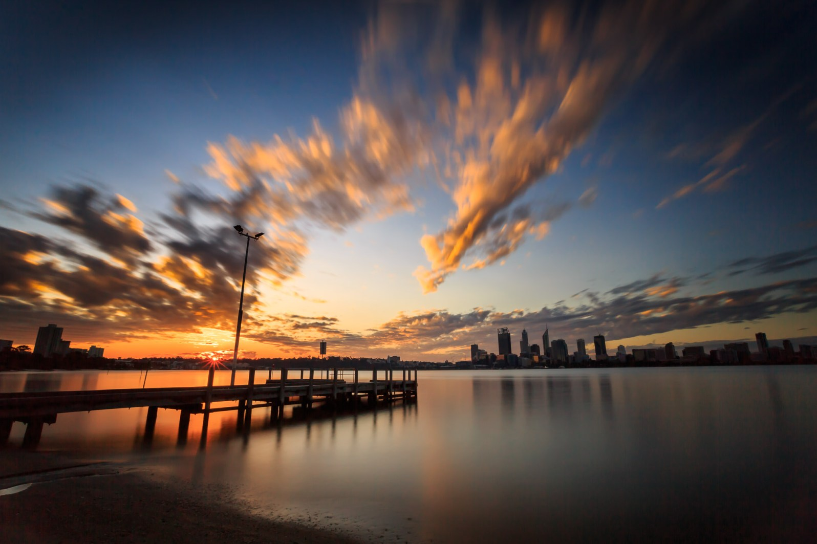 Coode St Jetty at Sunset