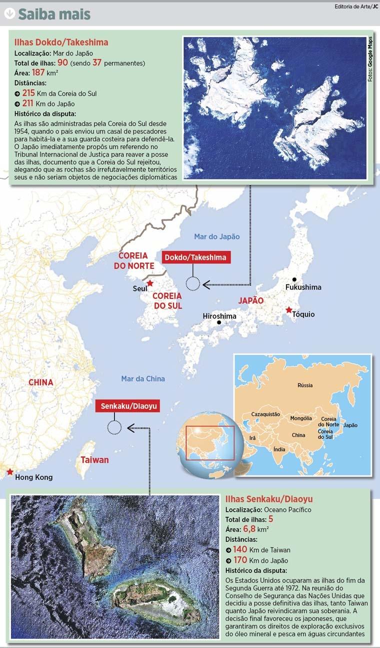 Resultado de imagem para ilhas em disputa mundo