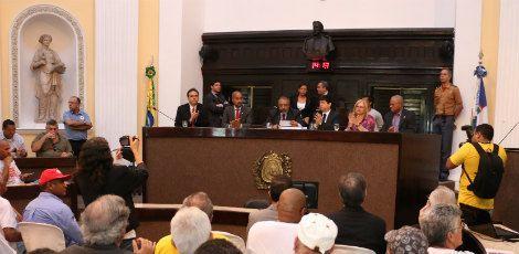 Paulo Paim veio ao Recife participar de uma audiência pública sobre a terceirização do trabalho / Foto: Vinicius Ehlers/ CDH Senado
