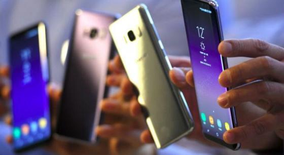 Os novos modelos, que serão apresentados durante o Mobile World Congress em Barcelona, Espanha, sucedem ao Galaxy S8, um dos sucessos da marca / Foto: AFP