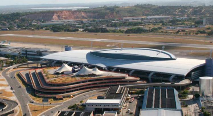 O aeroporto do Recife será um dos que será leiloado até o próximo mês de março / Foto: Divulgação/Infraero.