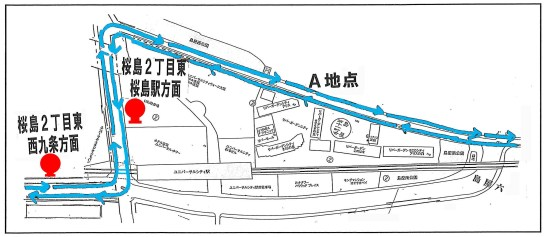 20140325ユニバ駅付近地図
