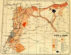 vieille carte Syrie