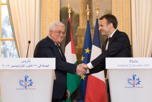 Emanuel Macron, Mahmoud Abbas