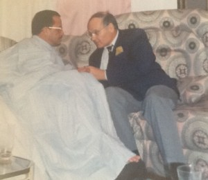 Entretien tête à tête entre le chef de la diplomatie mauritanienne, Saad Ahmed, et l'ambassadeur Eytan.